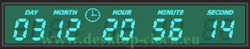 greenl digital desktop clock and timer