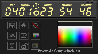set color digitsl digital desktop clock and timer