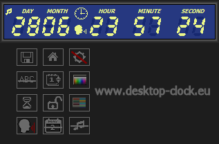 Digital clock and timer main display