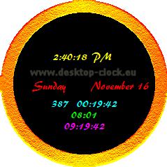 image showing desktop clock main window