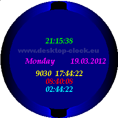 desktop watch without hands with long date display,countdown timer,system work time and time to shutdown