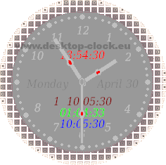 gray view digital desk watch image