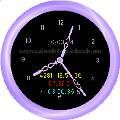 Click to view Desktop Clock 2.9 screenshot