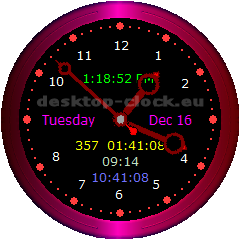 image showing desktop clock main window