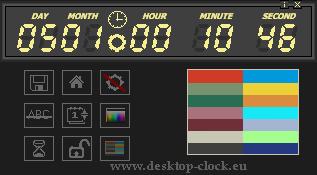 main panel digital desktop clock and timer