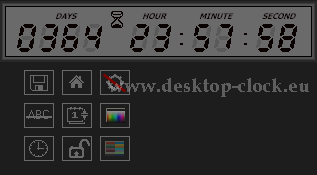 digital desktop clock and digital timer application face