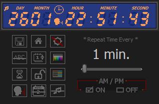 Digital clock and timer main display