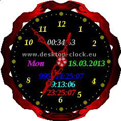 red_style_clock