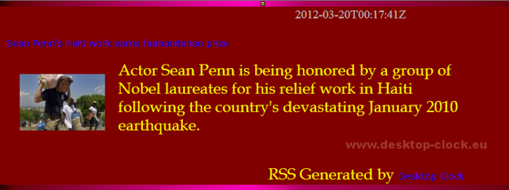 Sean Penn at work in Haiti-rss window